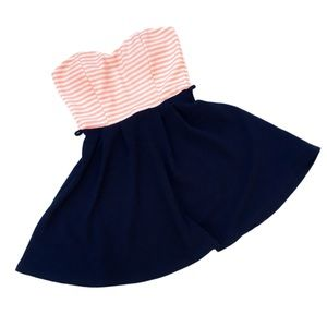 Privately Privileged Sz Small Navy Pink Mini Dress